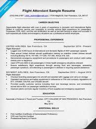 Cv Format For Airlines Job Flight Attendant Resume Sample Good Resume Format For Flight