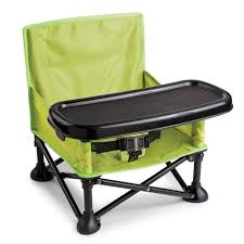summer infant pop and sit portable booster green grey