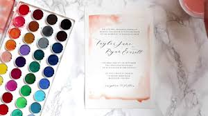 diy watercolor wedding invitations youtube How To Make Watercolor Wedding Invitations diy watercolor wedding invitations Wedding Invitation Templates