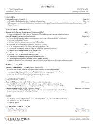 Undergraduate Resume Format Resume Samples