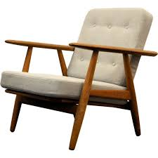 vintage oak lounge chair by hans wegner for getama 1950s