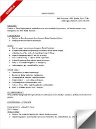 Dental Assistant Resume Samples Experience Resumes