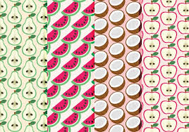 Fruit Pattern Enchanting Vector Hand Drawn Fruit Patterns Collection Download Free Vector