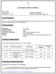 Awesome Collection Of Resume Format For Freshers Computer Engineers