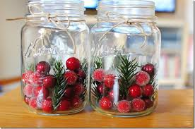 Decorate Jar Candles Mason Jar Decorating Ideas for Christmas Inhabit Blog 77