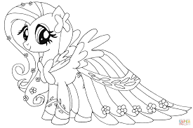 Small Picture Fluttershy coloring page Free Printable Coloring Pages