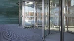 revolving doors rotating stock