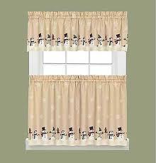 Snowman Kitchen Curtains