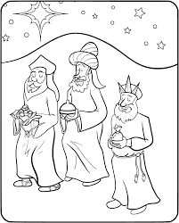 Three Wise Men Coloring Page - Get Coloring Pages