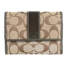 Coach Signature Foldover Compact Wallet