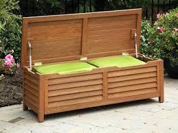 outdoor storage bench seat under window diy