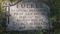 Priscilla Lucas Folkes (1883-1951) - Find A Grave Memorial