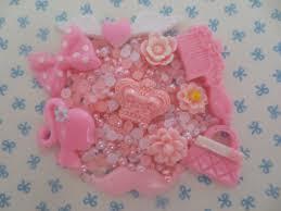 pink decoden kit flat back resin cabochon kawaii phone case diy over 400 pieces