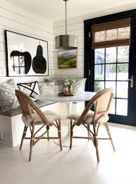 banquette table as the best dining room and kitchen furniture. A Built-in Banquette And Round Table Makes Perfect Kitchen Nook With Cafe As The Best Dining Room Furniture L
