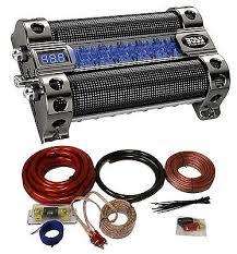 capacitors car audio video installation vehicle electronics boss cap8 8 farad led digital car power capacitor cap 0 gauge wiring kit