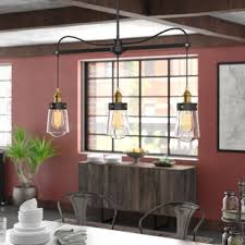 Island pendant lighting Kitchen Poplar 3light Kitchen Island Pendant Joss Main Kitchen Island Pendants Joss Main