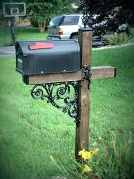 double mailbox post. 6x6 Mailbox Post Plans With Double Wooden .
