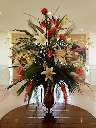 diy silk flower ceremony decor hotel foyer flower arrangements silk fl in lobby on diy artificial