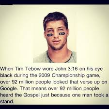 Tim Tebow and John 316 stories?