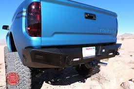 2014 - Up Toyota Tundra HoneyBadger Rear Bumper w/ Backup Sensor ...