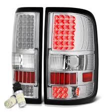 2008 F150 Brake Light Bulb Vipmotoz For 2004 2008 Ford F 150 Pickup Truck Chrome Bezel Led Tail Brake Light Housing Lamp Assembly Full Smd Led Reverse Bulbs Included Driver