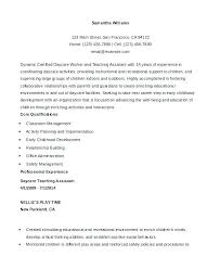 Educational Assistant Resume Teaching Assistant Sample Teacher ...