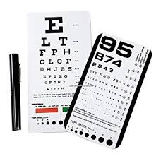 Emi Rosenbaum And Snellen Pocket Eye Charts Led Penlight 3 Piece Set