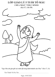Tranh tô màu – Chúa nhật VII Phục sinh – Năm B - GIÁO XỨ ĐỒNG TRÌ