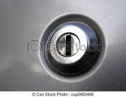 Car door lock keyhole Key hole on an automobile car door