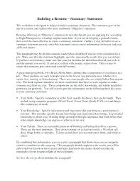 How To Write A Resume Summary Awesome Writing A Resume Summary Colbroco