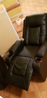2x cinema recliner with cup holder