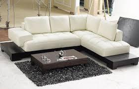 modern sectional sofa. How To Match Modern Sectional Sofas : Beige Leather Modern Sectional Sofa A