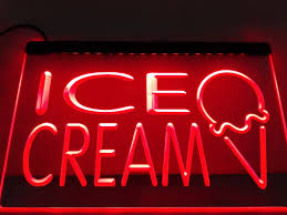 Neon Light Ice Cream Us 11 5 Lk653 Ice Cream Display Cafe Bar Led Neon Light Sign Home Decor Crafts In Plaques Signs From Home Garden On Aliexpress