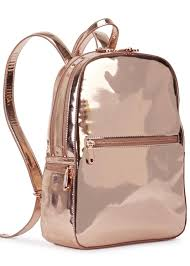 Dkny Rose Gold Leather Backpack in Pink | Lyst & Gallery Adamdwight.com