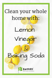 People have been cleaning with household staples like lemons, vinegar and  baking soda for a