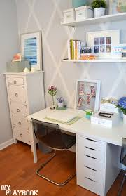 diy office space. White Office Space Diy