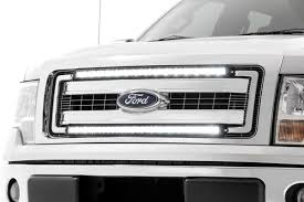 Ford Light Bar Dual Set Of Single Row Led Light Bar Grille Mounts W 30 Inch Black Series Cree Led Light Bars