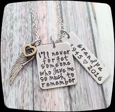 memorial gift remembrance necklace loss of dad loss of grandpa loss of brother memorial jewelry personalized remembrance jewelry