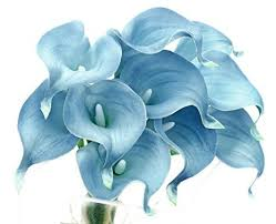 blue office decor. fiveseasonstuff 10 stems of real touch calla lilies artificial flower bouquet perfect for wedding bridal party home office dcor diy milky blue decor