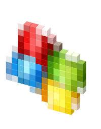 Windows XP logo 3D Favicon