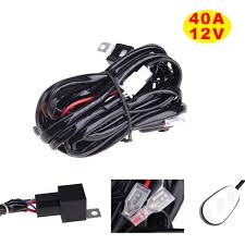 online get cheap wiring harness for led light bar aliexpress com universal 40a 12v switch relay fuse wiring harness kit for led light bar fog spot on