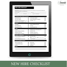 Employee Hire Forms New Hire Checklist