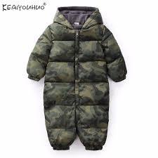 2018 cotton baby boy coats long sleeve winter jackets hooded baby girl jumpsuits infant coat newborn