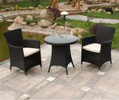 elegant small garden furniture 40 bistro wicker with round table dining outdoor set for activity