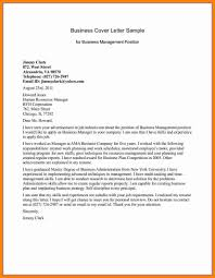 example business letter sample business letters students for business management position in full block style with sander address then main parapraph and closing free