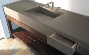 Concrete Bathroom Sink Custom Concrete Bathroom Sinks Trueform Concrete