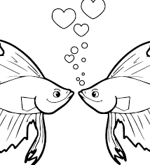Betta Fish Coloring Pages Fish Colouring Es For Coloring Star E
