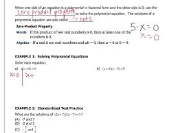 algebra 7 5 solving polynomial equations in factored form