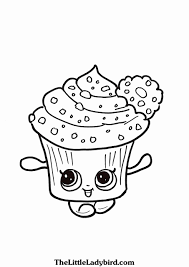 Print a lovely picture of one the shopkins. Printable Shopkins Coloring Pages Free Meriwer Coloring