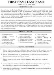 professional project manager resume samples templates manager resumes samples